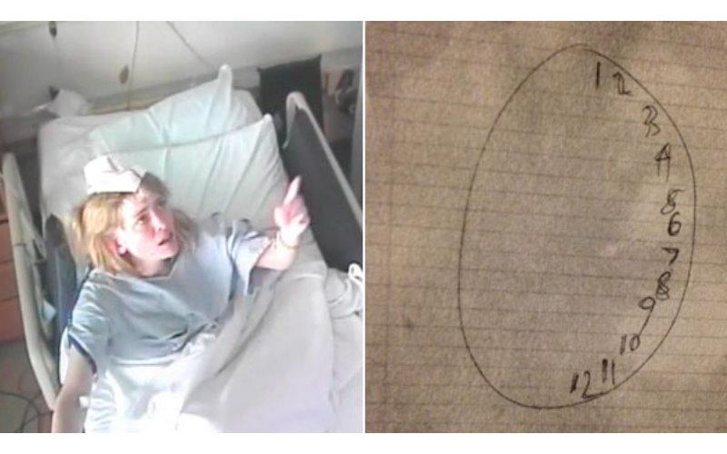 當大家都認為這個「鬼附身」的瘋女子已經無藥可救時,一名醫生突然請她畫出時鐘...